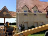 Les façades de la résidence Blanche Paugham sont en cours d'entretien