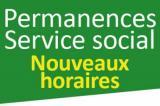 Nouveaux horaires service social